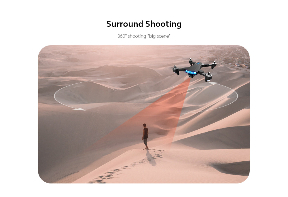 GP1 Drone HD 6K Professional Aerial Photography Remote Control Aircraft - 6K Double Camera With Electric Ton Surround Shooting