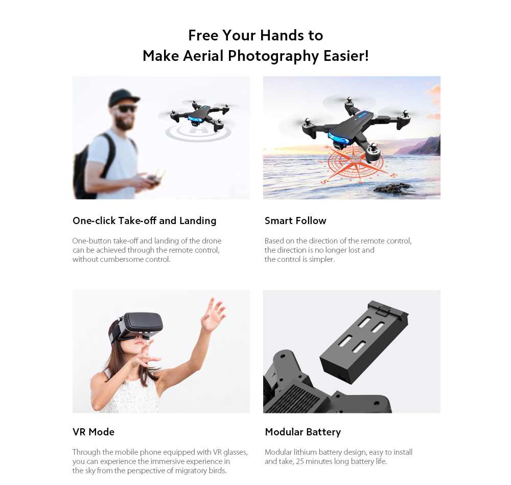 GP1 Drone HD 6K Professional Aerial Photography Remote Control Aircraft - 6K Double Camera With Electric Ton  Free Your Hands to Make Aerial Photography Easier!