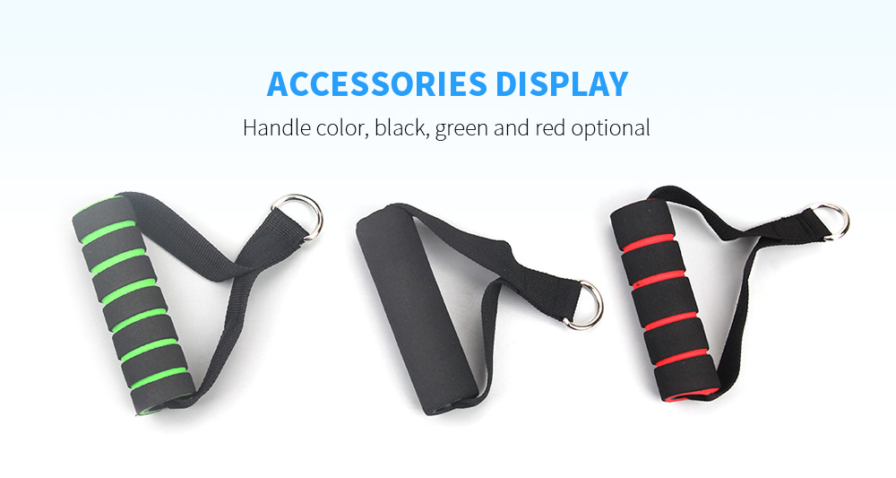 Webbing Head TPE Rally Resistance Band Rally Rope One-line Rally Fitness Equipment 11PCS / Set - Black Accessories Display