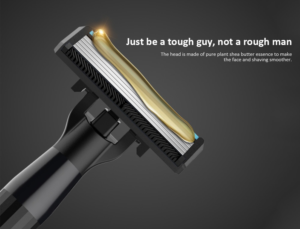 H600 Men Manual Razor Shaver - Black