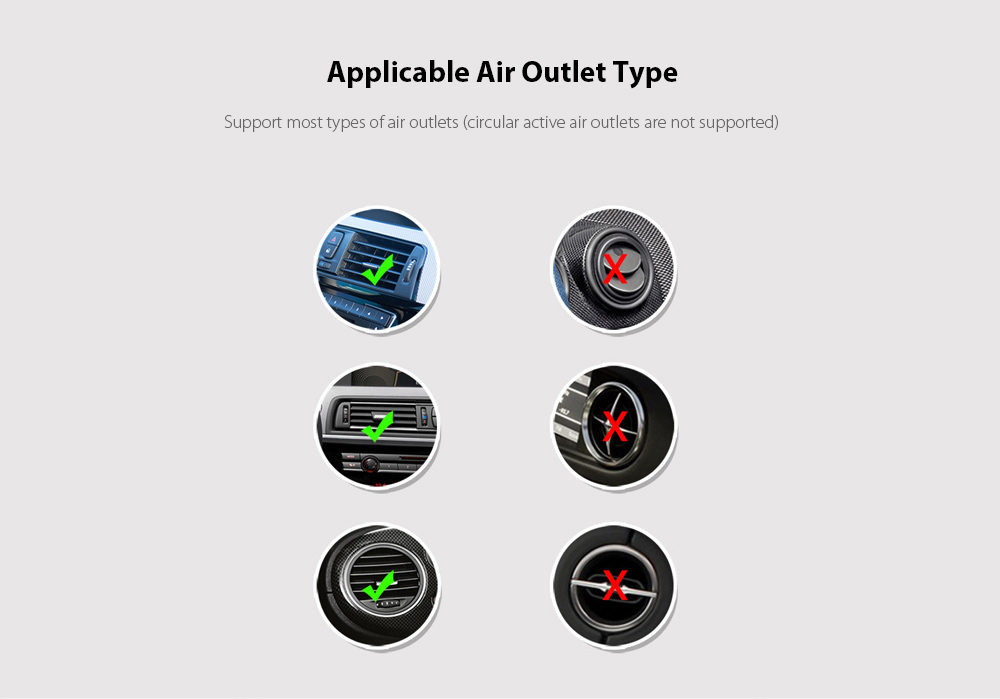 V3 Car Phone Holder Automatic Sensing 15W Fast Charge Wireless Charger - Silver  Applicable Air Outlet Type