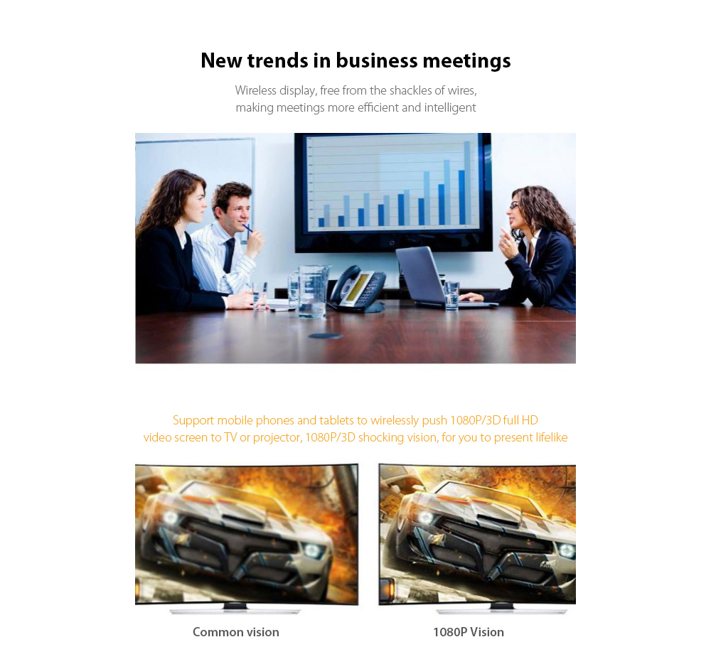 T8 RK3036 Wireless Same Screen Device New trends in business meetings