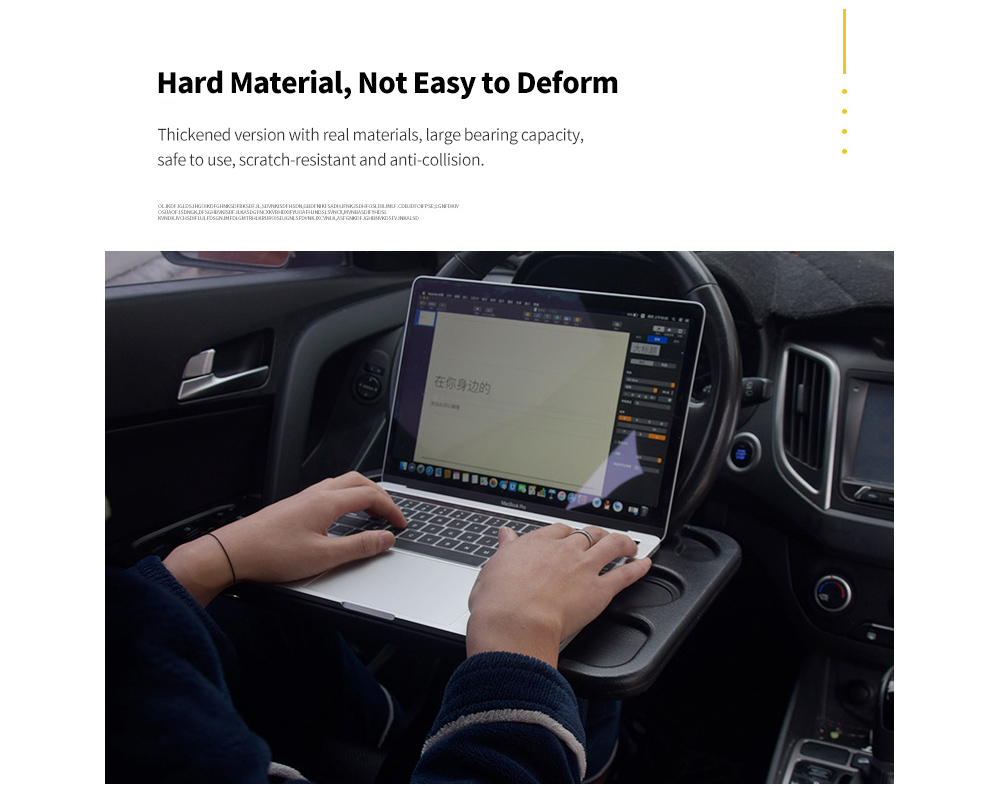 Steering Wheel Tray Car Computer Deskwind Workbench Car Dining Storage Table - Black Hard Material, Not Easy to Deform