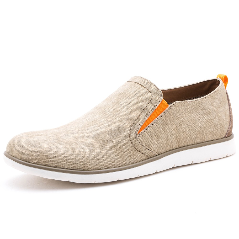GM Golaiman GM1826 Men Casual Flat and Loafer Shoes - Crystal Cream US 12