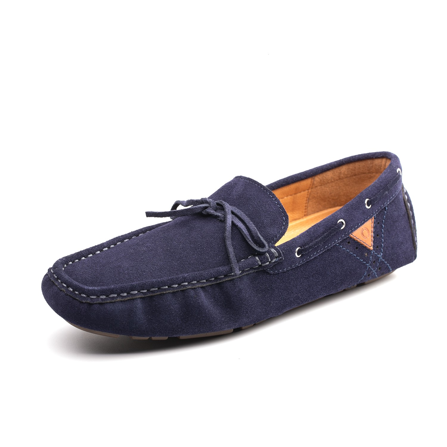 Omine M19002 Men Casual Flat Loafer Bean Shoes - Navy Blue US 9