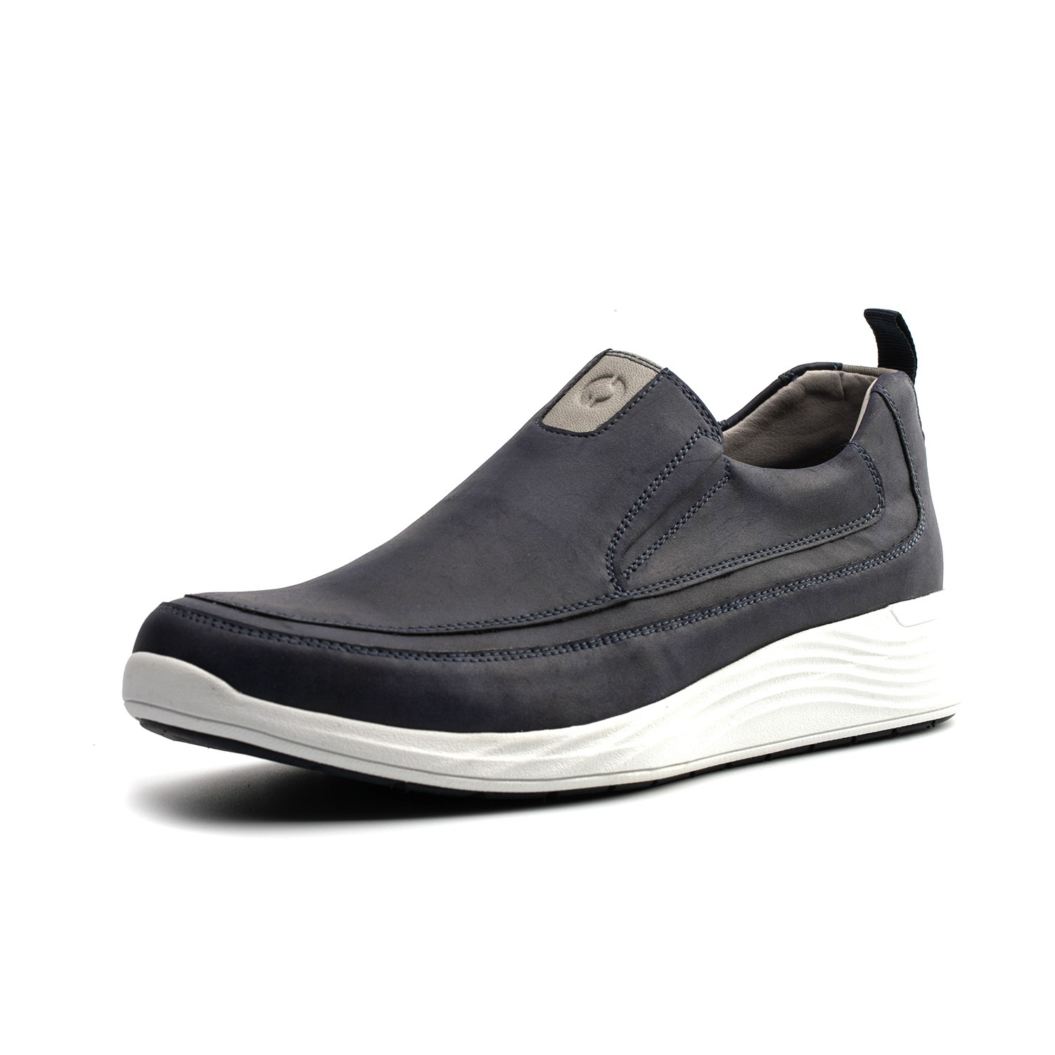 Omine M19009 Men Flat Casual Leather Shoes - Midnight Blue US 9.5
