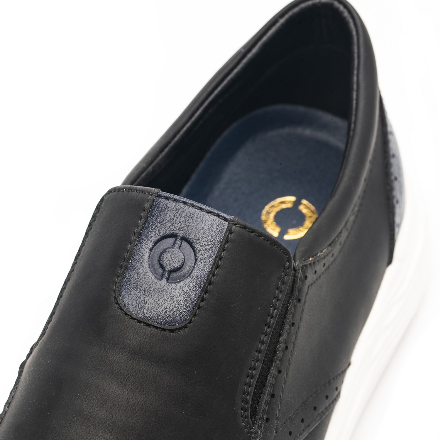 Omine M19010 Men Casual Leather Shoes - Black US 15