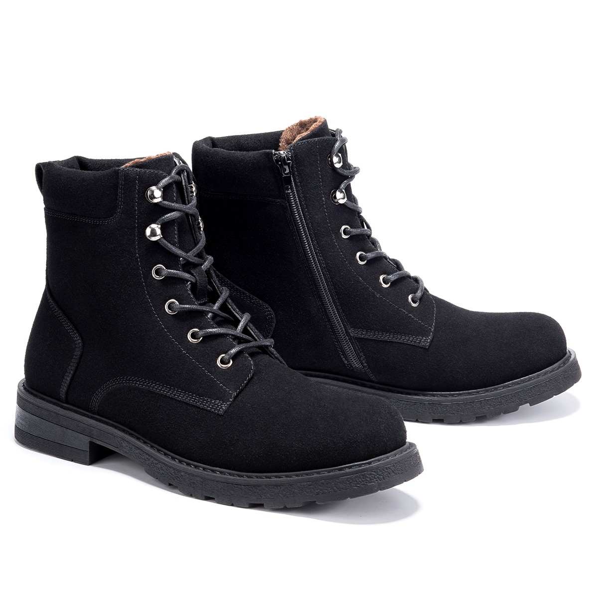 GM GoLaiman G4208 Men Boots Round Toe Casual Shoes - Black US 9