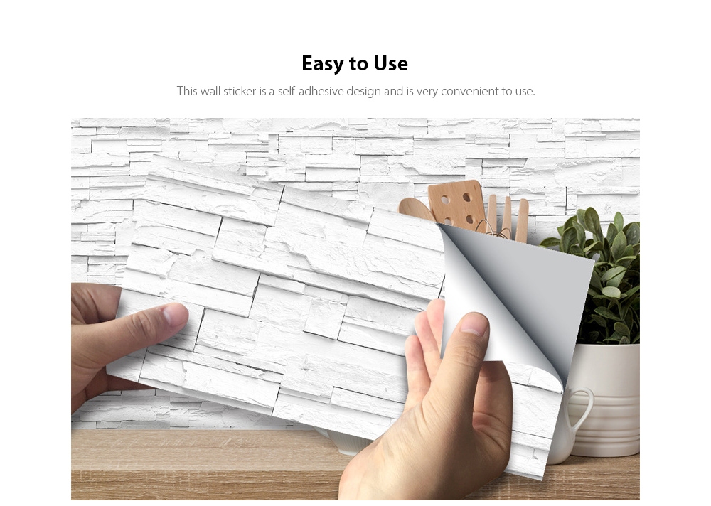 Kitchen Anti-Greasy Self-Adhesive Wall Sticker Easy to Use