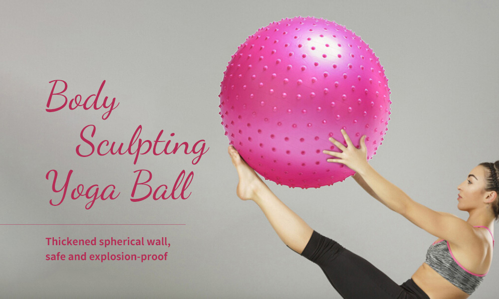 Anti-burst Yoga Ball Thickened Stability Balance Ball Pilates Physical Fitness Exercise Ball 55CM / 65CM / 75CM with Air Pump - Hot Pink 55cm Body Sculpting Yoga Ball