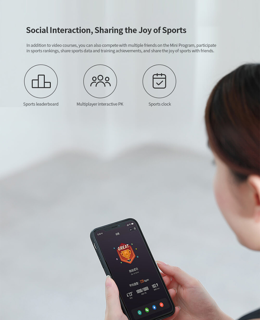 Smart Training Skipping Rope from Youpin - Black Social Interaction, Sharing the Joy of Sports