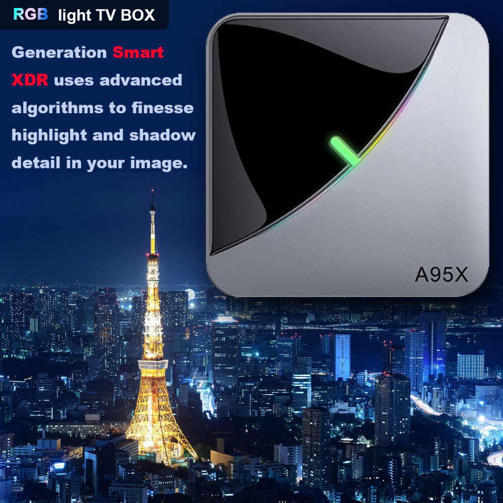 A95X F3 Air TV Box Android TV Box Android 9.0 Amlogic S905X3 8K Dual WiFi Media Player Smart TV Box TV Set Android TV Consoles - Black 2G+16G US PLUG