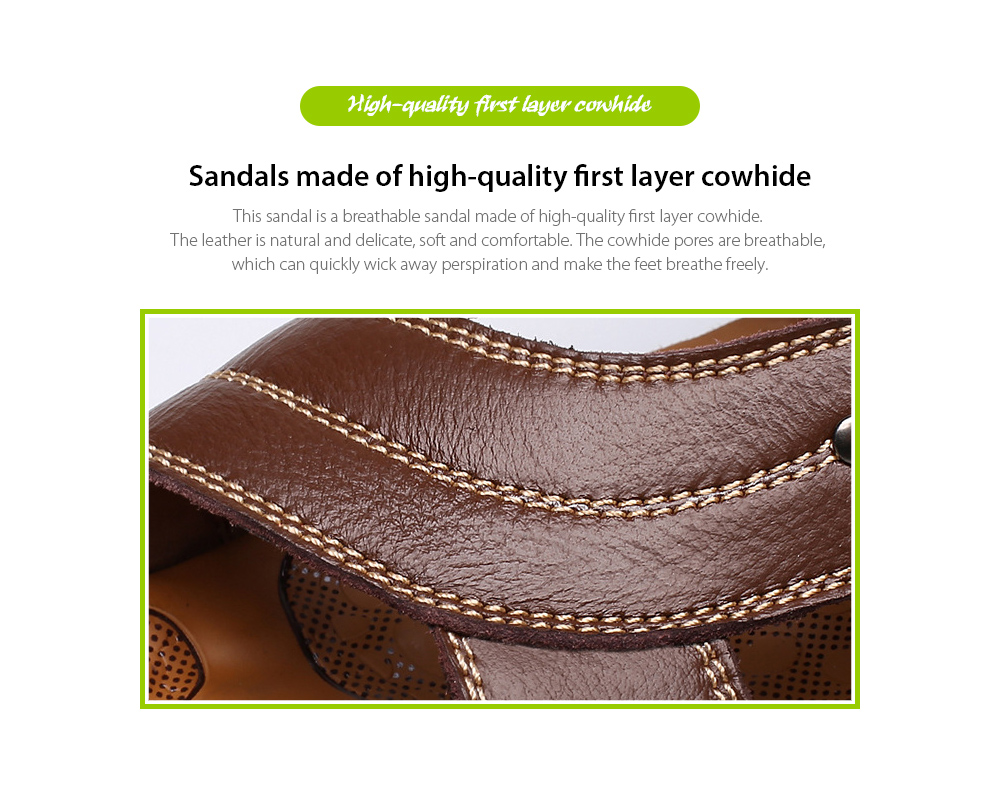 Summer Men's Sandals High-quality first-layer cowhide