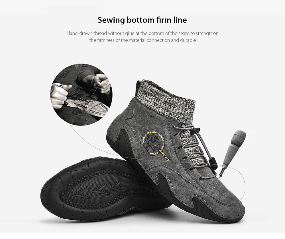 Men's Breathable Boots Sewing bottom firm line