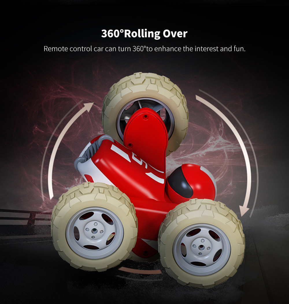 Double-sided Roll-up Car, Remote Control Car Stute
