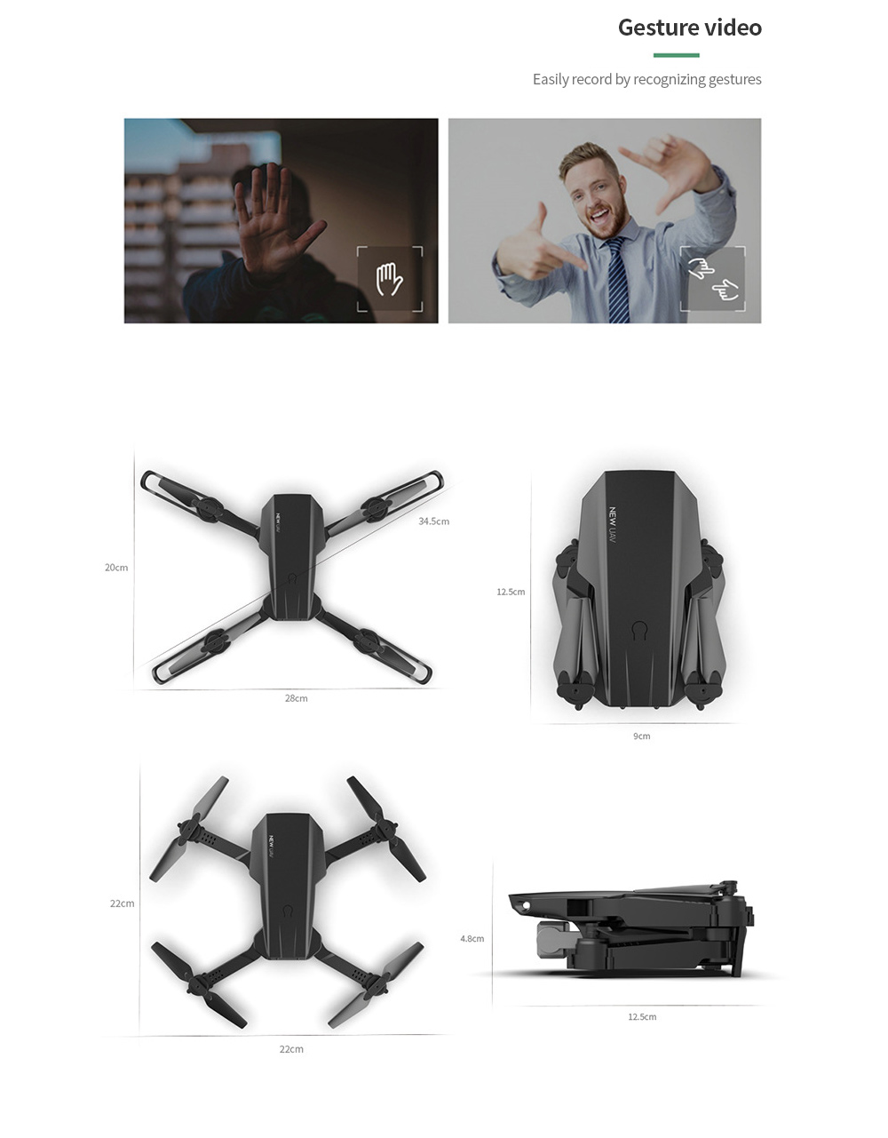 Folding Drone High-definition Flight 4K Aircraft Size