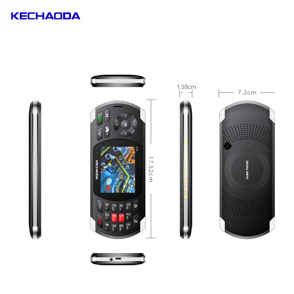 Kechaoda K110 2 In 1gaming Phone 2.8 Inch 2600mah Battery Comes With 84 Games - Black