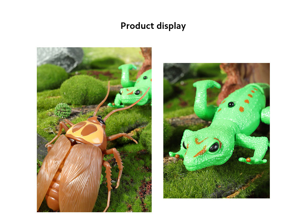 Electric Remote Control Lizard Praying Mantis Tricky Spoof Toy show