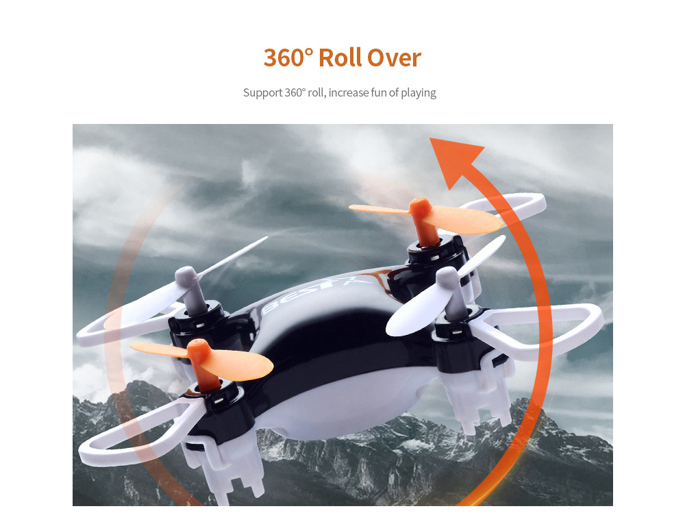Four-axis Mini Drone Roll Over