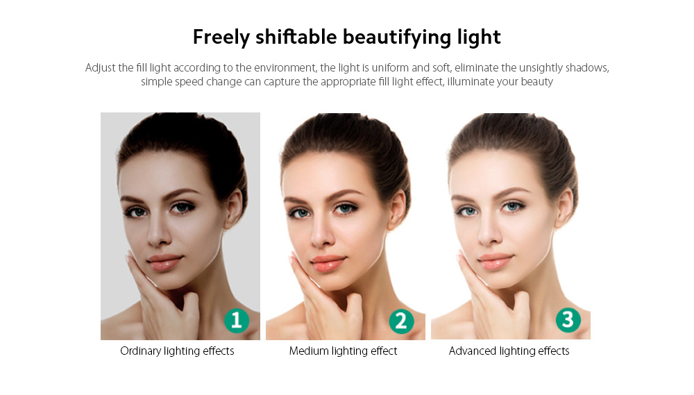 Q9 Computer Camera Freely shiftable beautifying light