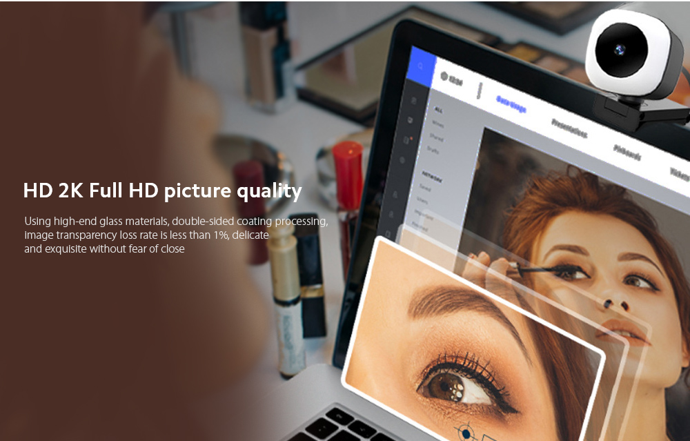 Q9 Computer Camera HD 2K Full HD picture quality