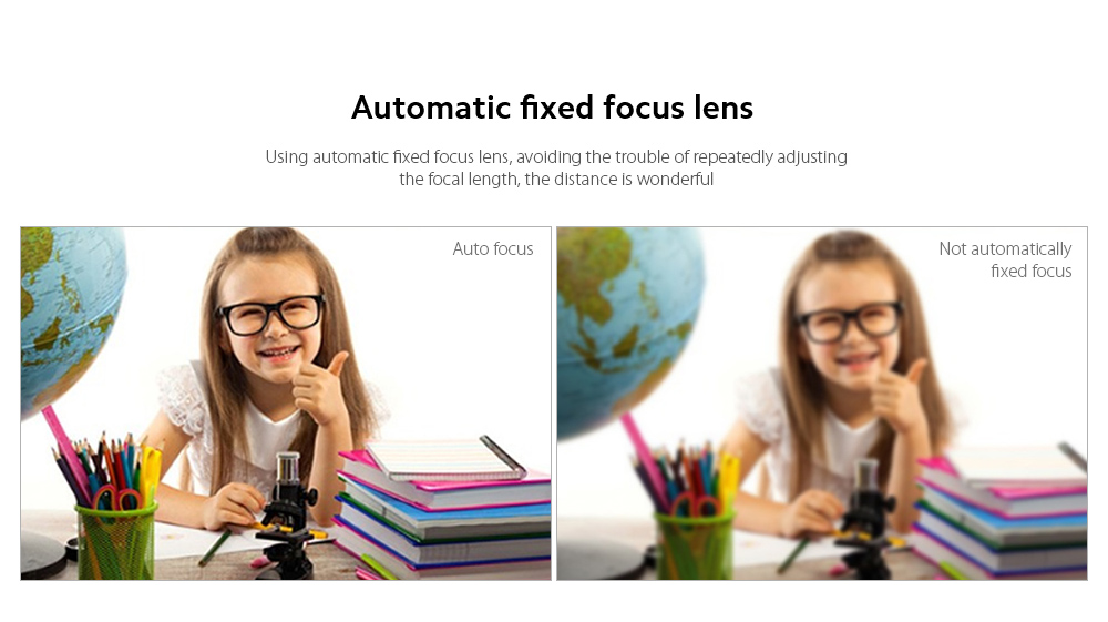 Q9 Computer Camera Automatically fixed focus lens