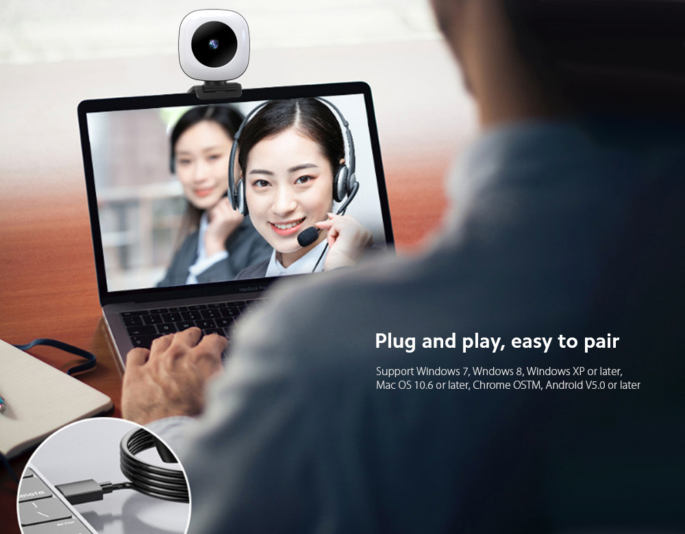 Q9 Computer Camera Plug and play, easy to pair