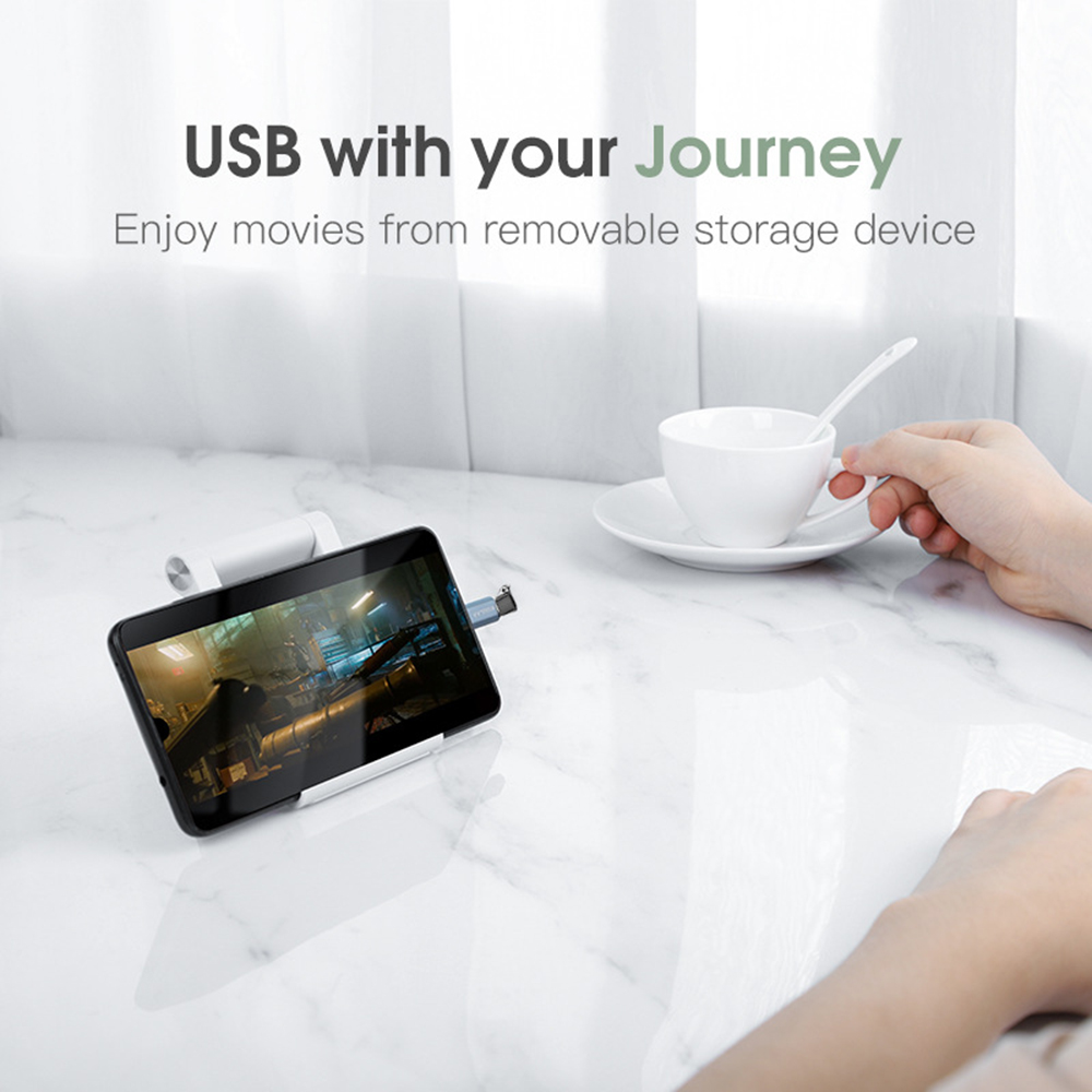 KUULAA Adapter Mobile Phone Data Cable Transfer Android Micro TYPE-C Head Charging Adapter - Navy Blue 1PCS