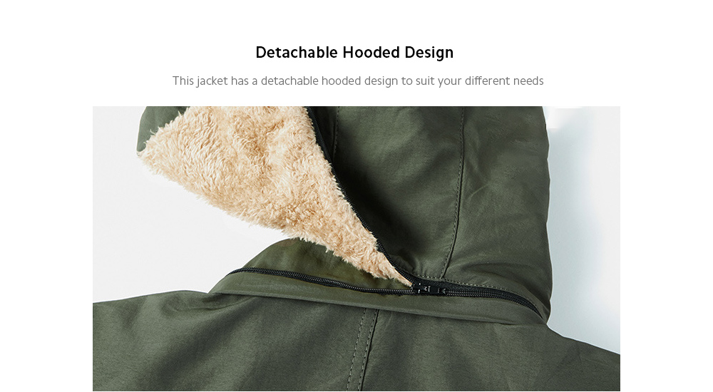 Autumn And Winter Men's Plush Coat Hoodie