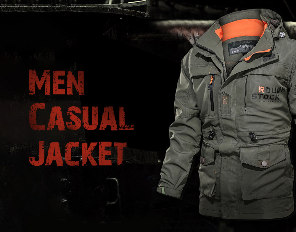 Outdoor Sports Tactical Jacket Mid-length Men's Casual Jacket