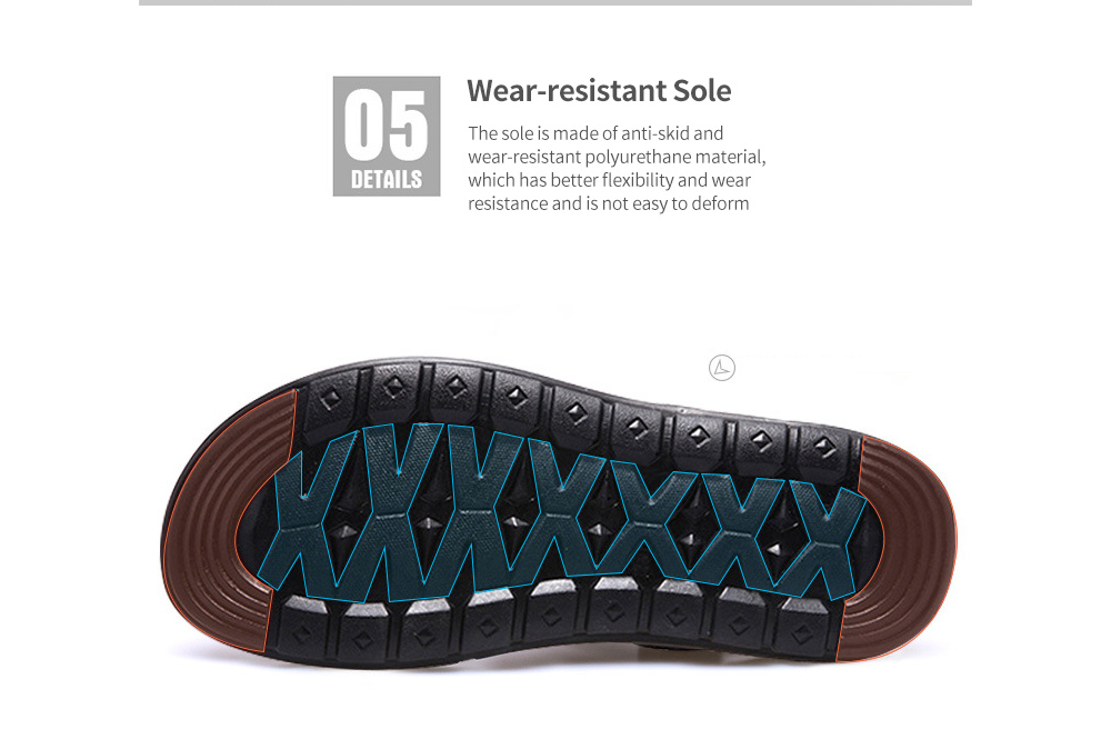Men's Sandals Large Size Leather Beach Shoes Sandal Slippers Sole