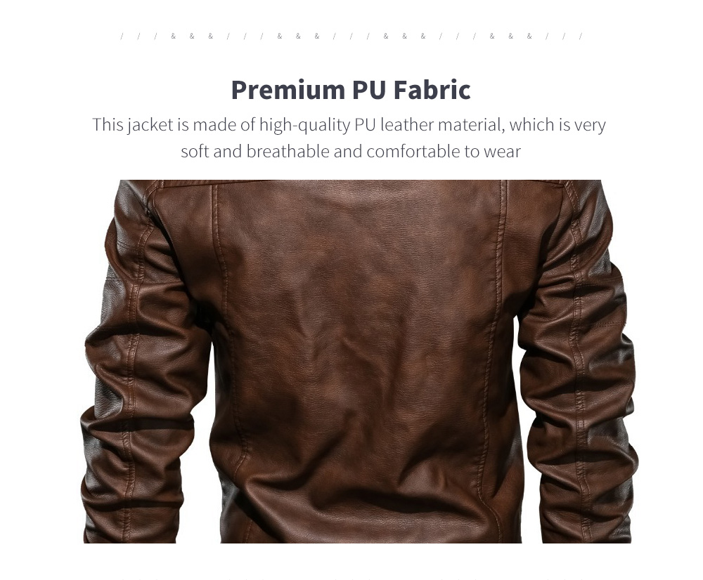 Spring And Autumn Winter Leather Men's Hood Leather Coat Fabric
