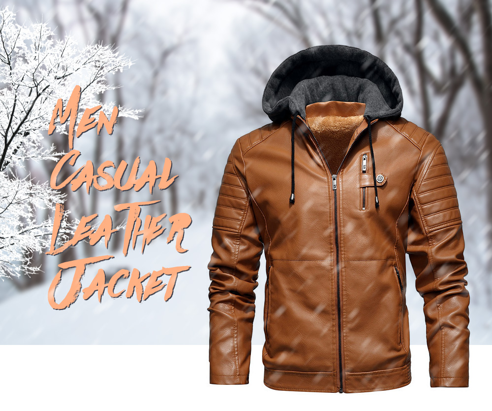 Autumn And Winter Leather Men's Leather Jacket