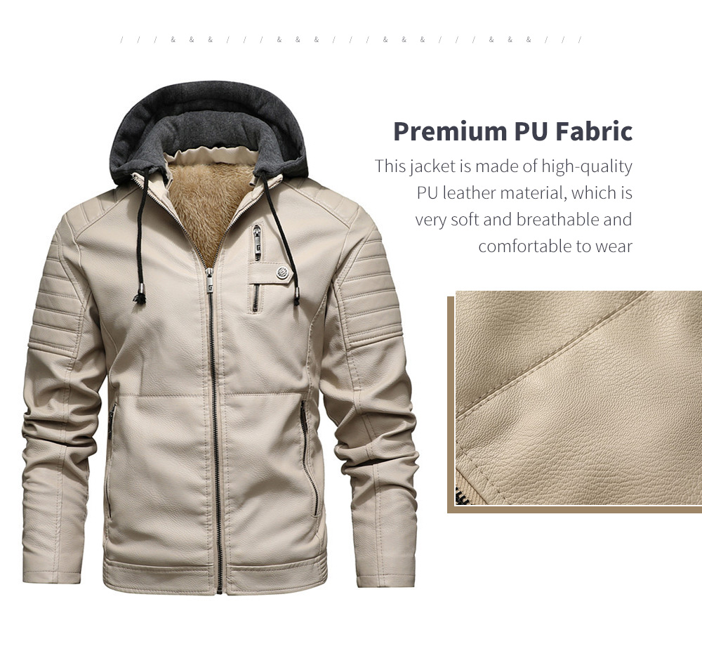 Autumn And Winter Leather Men's Leather Jacket Fabric