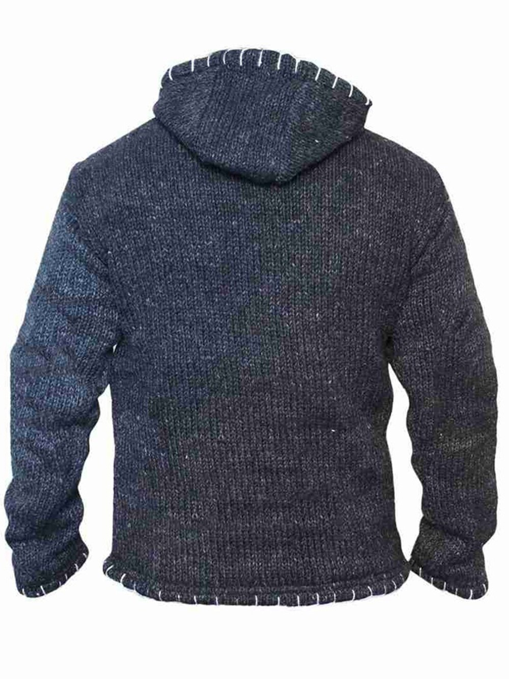 Long Sleeve Hooded Large Size Men's Stitching Sweater - Red M