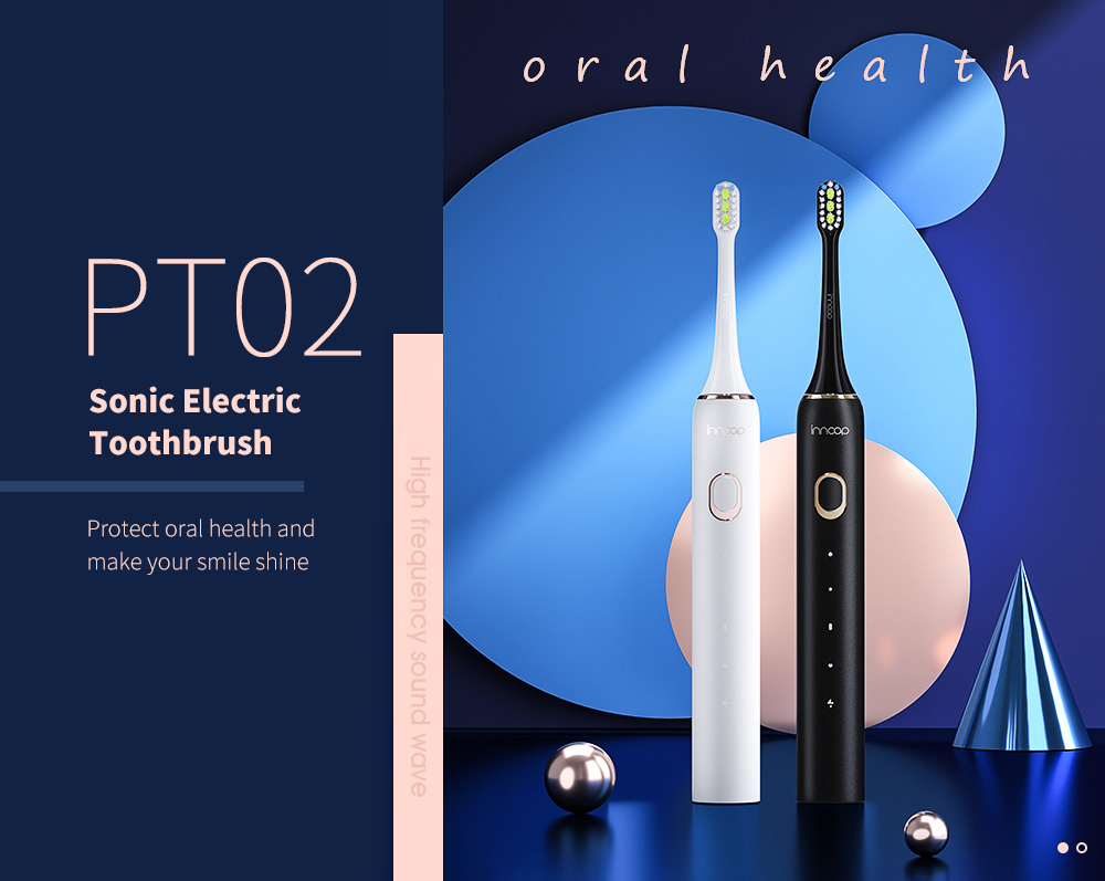 PT02 Sonic Electric Toothbrush USB Type-C Charging - White