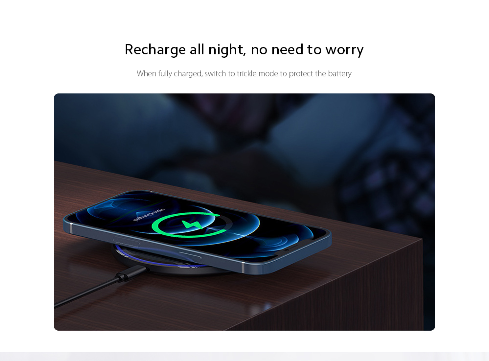 KUULAA KL-CD03 Ultra Thin QI 10W Wireless Charger Recharge all night, no need to worry