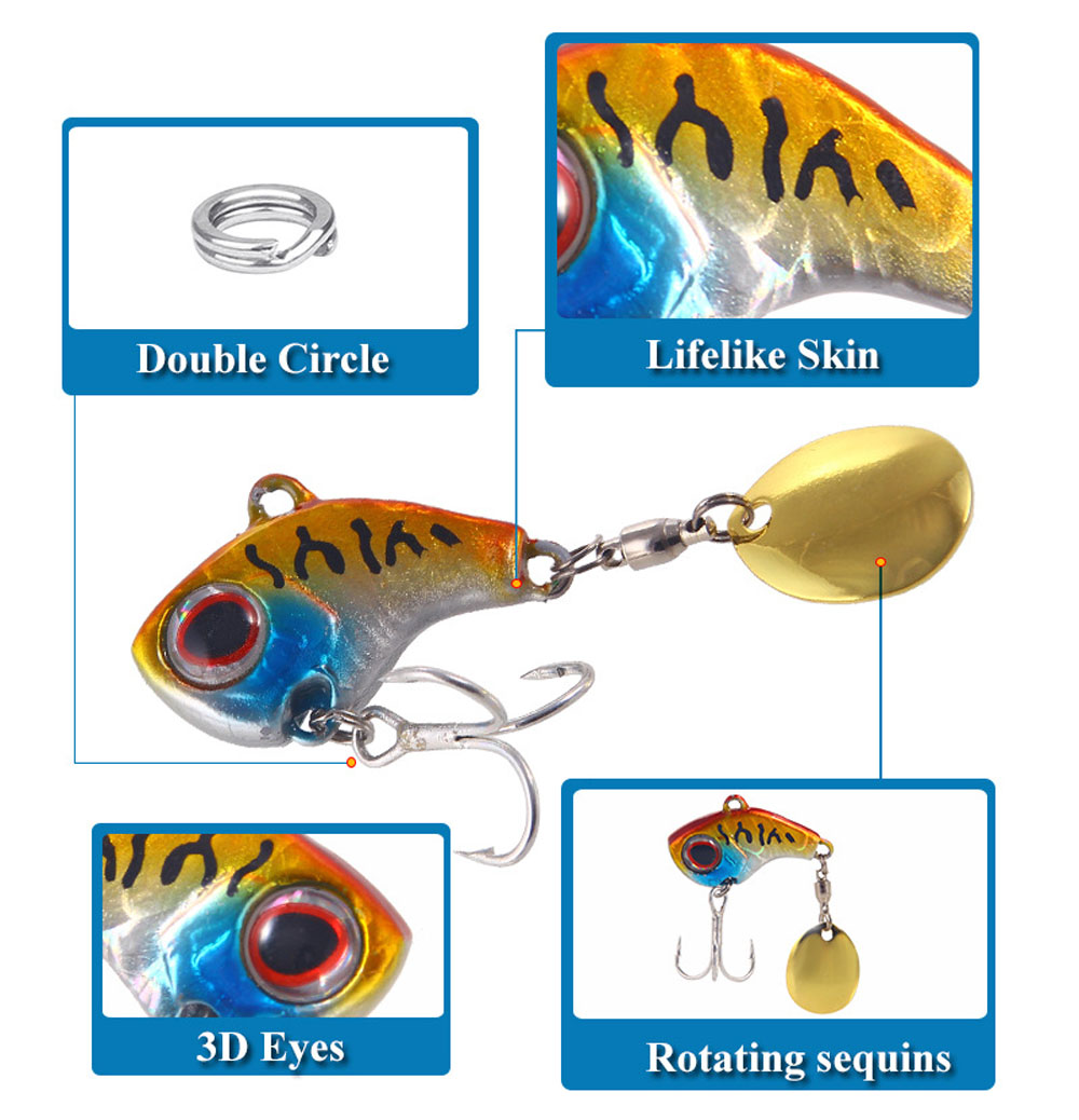 Metal Mini Fishing Lure 9g/13g/16g/22g - Red 2.5cm 9g