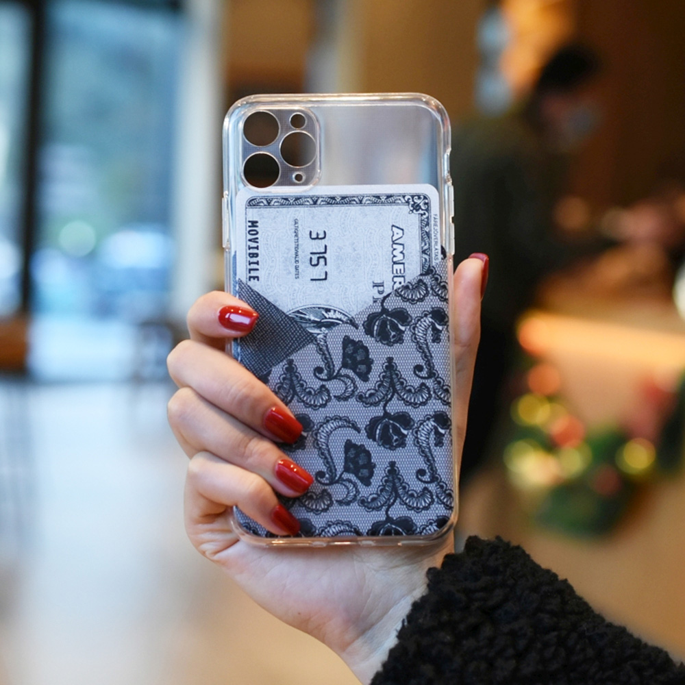 British Style Transparent Painted Mobile Phone Case Silicone Soft For iPhone 11/11 Pro/11 Pro Max/iPhone 12/12 Pro/12 Pro Max/12 Mini - Transparent for iPhone 12 Mini