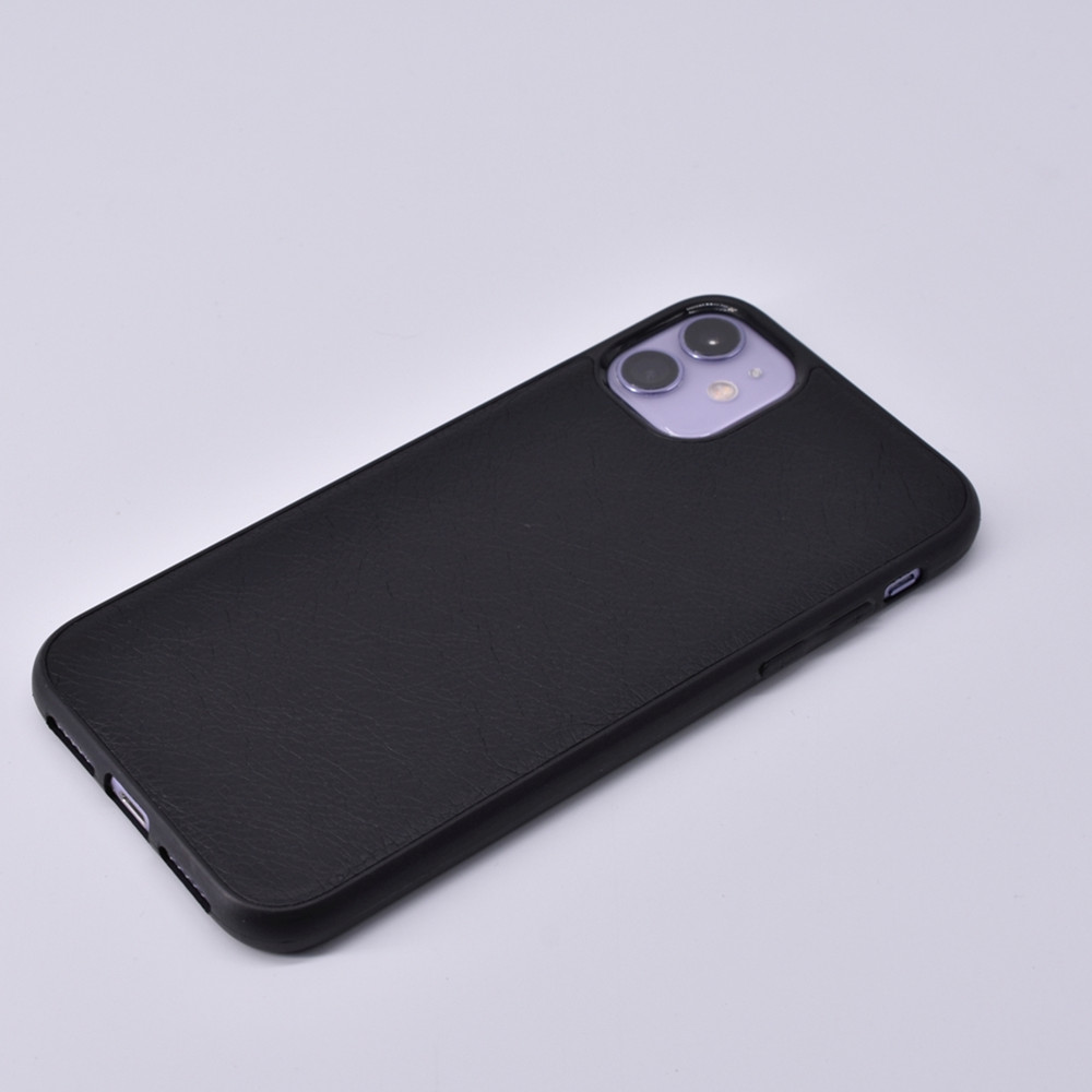 Retro Lychee Pattern Leather Mobile Phone Case for iPhone 11 / 11 Pro / 11 Pro MAX / XR / XS / XS MAX - Black for iPhone XS MAX