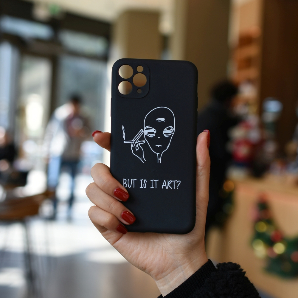 C1220-03804BK2 Art Painted Soft Mobile Phone Case for iPhone 11 / 11 Pro / 11 Pro Max / 12 / 12 Pro / 12 Pro Max / 12 Mini - Black for iPhone 12 Pro