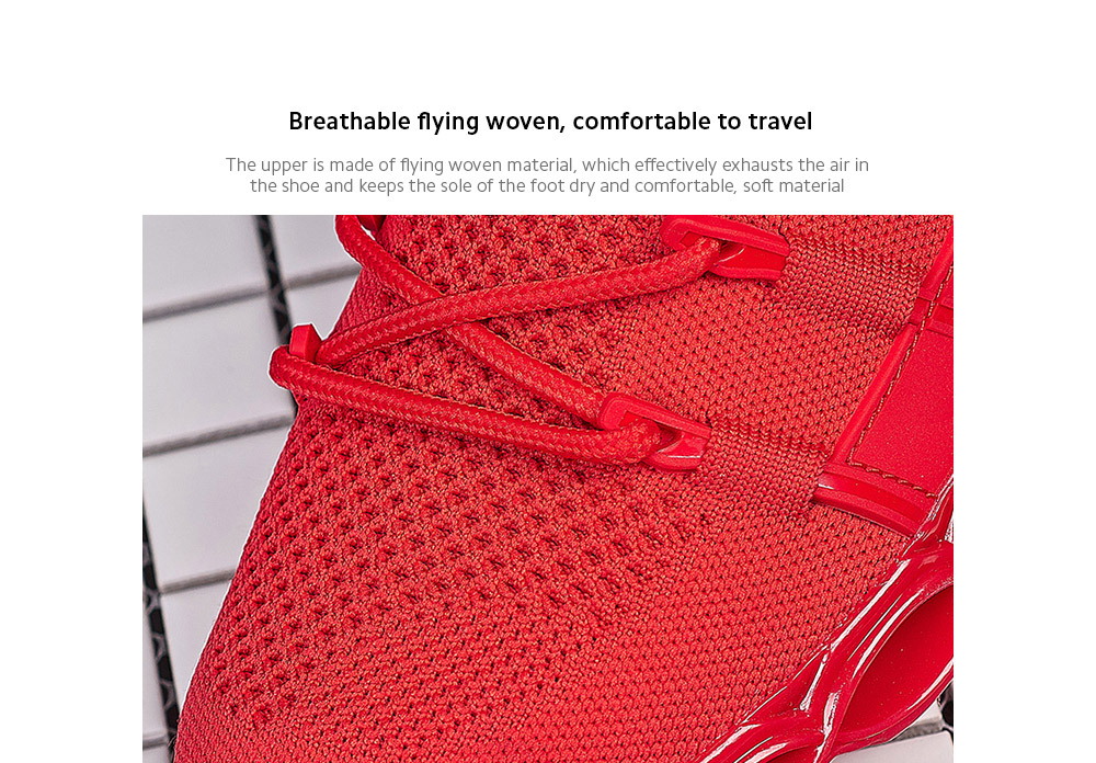 IZZUMI Fashion Trend Casual Men Sneaker Breathable flying woven, comfortable to travel