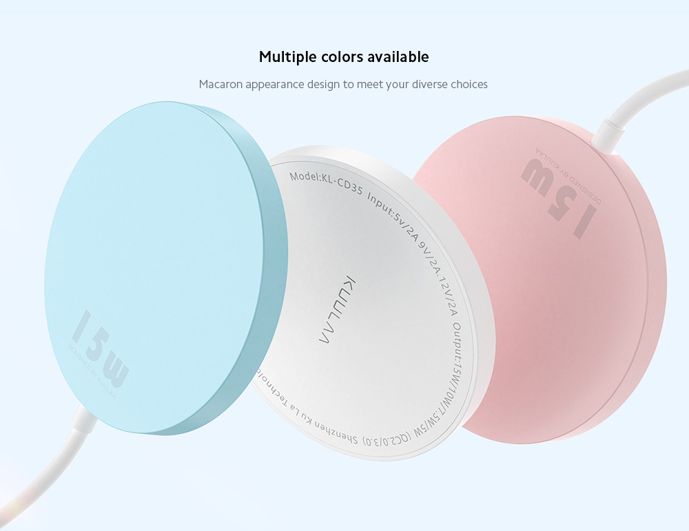 KUULAA KL-O168 Charger Multiple colors available
