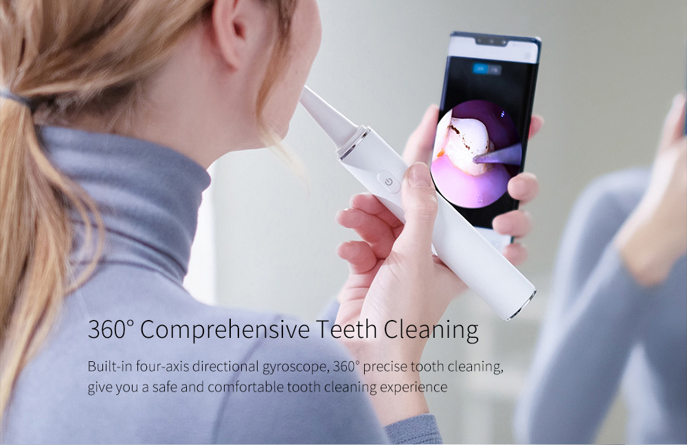 T11 Pro Smart Visual Ultrasonic Calculus Removal Dental Scaler Cleaning