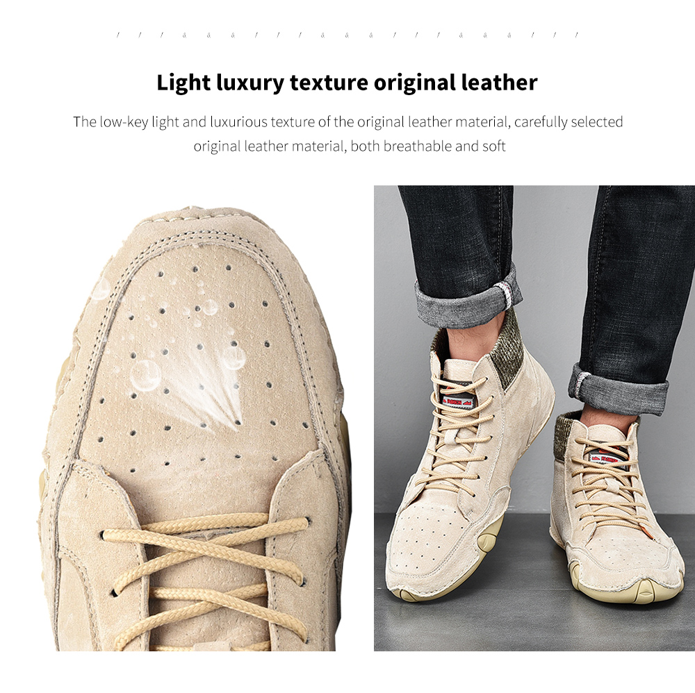 Fashion Trend Peas Shoes Light luxury texture original leather