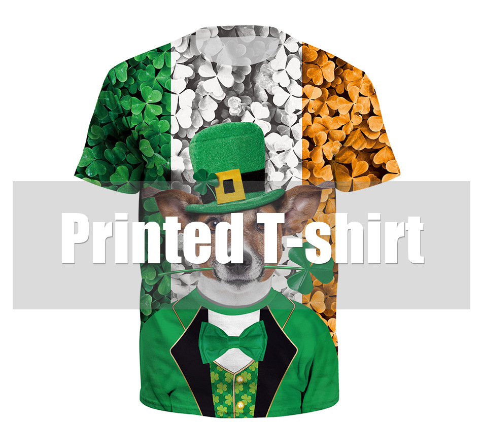 3D Digital Print Large Size Short Sleeve T-Shirt