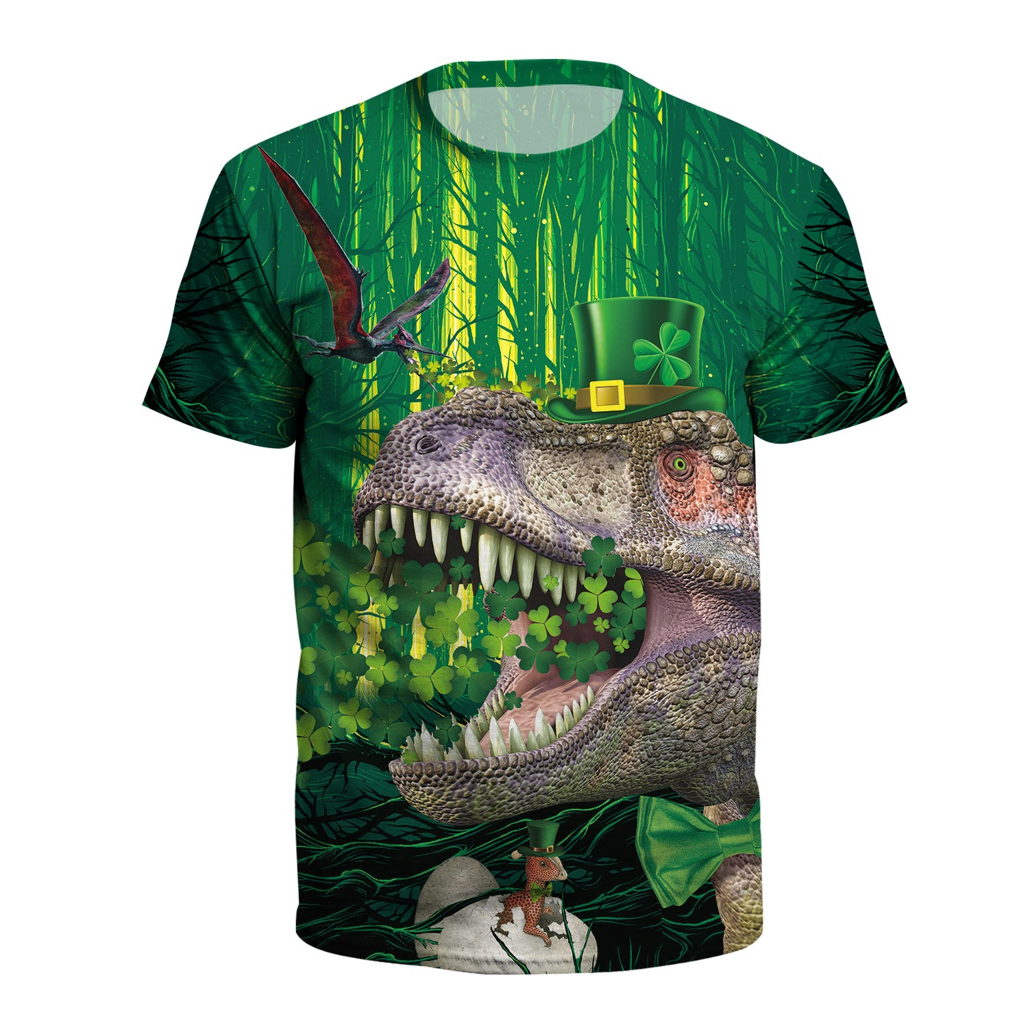 3D Digital Print Large Size Short Sleeve T-Shirt show