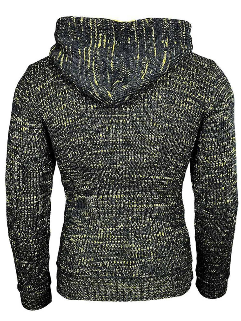 SY0002 Autumn and Winter Mixed Color Long Sleeve Men's Sweater - Multi-B XL