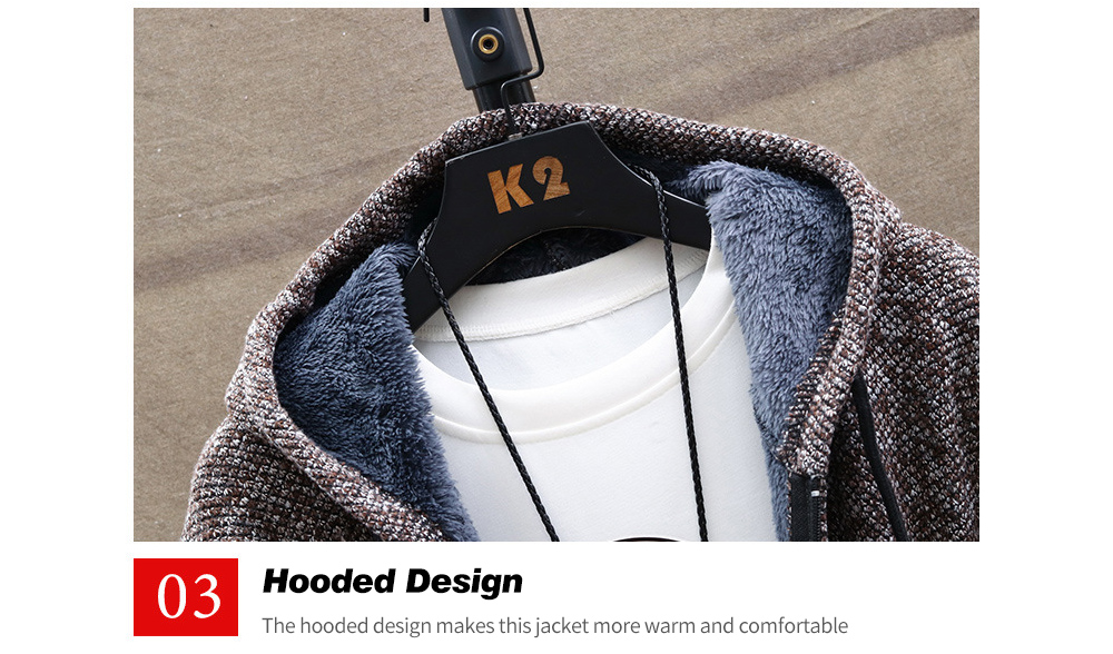 Autumn And Winter Plus Velvet Thickening Large Size Sweater Coat Hooded