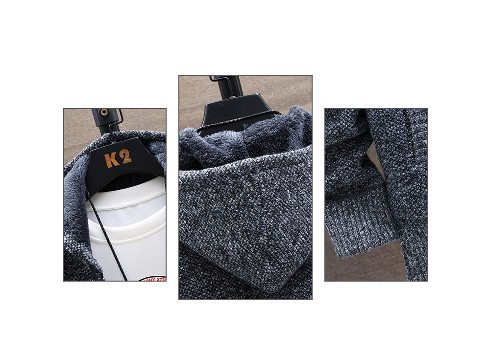 Autumn And Winter Plus Velvet Thickening Large Size Sweater Coat